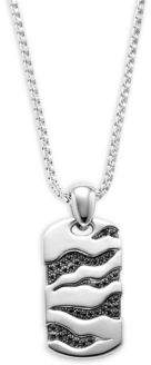 Effy Sterling Silver Engraved Dog Tag Pendant Necklace