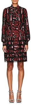 Valentino Women's Lipstick-Print Silk Shirtdress