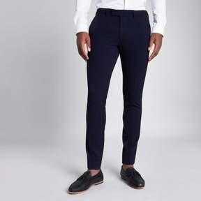 River Island Mens Navy super skinny suit pants