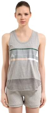 adidas by Stella McCartney Essentials Logo Printed Jersey Tank Top