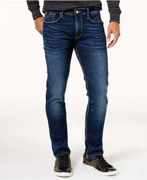 GUESS Men's Slim-Fit Harvest Blue Ripped Stretch Jeans