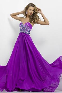 Blush Lingerie Strapless Embellished Long Dress 9710