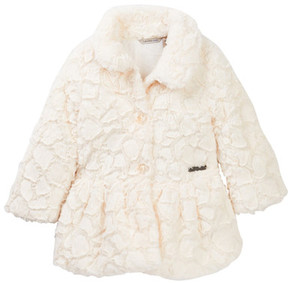 Calvin Klein Faux Fur Coat (Toddler Girls)