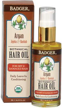 Organic Argan Hair Oil by Badger (2oz Oil)