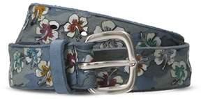 Orciani Men's Blue Leather Belt.