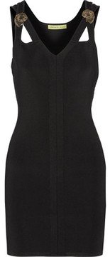 Versace Jeans Cutout Stretch-Knit Mini Dress