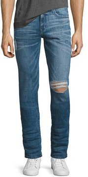 Joe's Jeans The Slim-Fit Distressed Jeans, Doss (Blue)