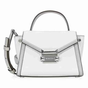 Michael Kors Whitney Leather Crossbody Bag- Aluminum/Pearl Grey