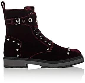 Fendi Women's Studded Velvet Ankle Boots