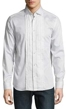 Karl Lagerfeld Pleated Button-Down Shirt