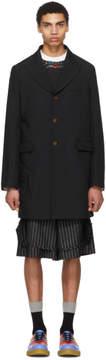 Comme des Garcons Black Double Cloth Twill Coat