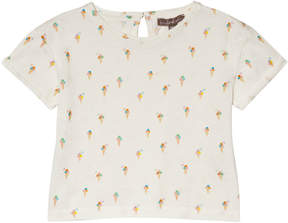 Emile et Ida White Ice Cream Print T-Shirt