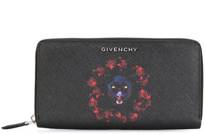 Givenchy panther zip around wallet