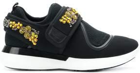 Salvatore Ferragamo sequin embellished sneakers