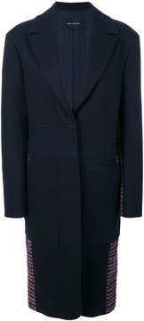 Cédric Charlier micro checked back coat