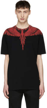 Marcelo Burlon County of Milan Black and Red Double Wing T-Shirt