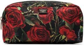 Dolce & Gabbana Rose Print Nylon Pouch