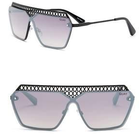 Quay Hall of Fame 54mm Rectangular Sunglasses