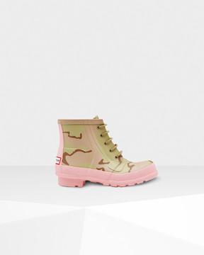 Hunter Women's Original Rubber Lace-up Desert Camo Boots