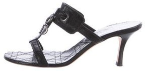 Christian Dior Cannage Leather Sandals