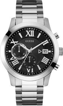 GUESS Men's Chronograph Stainless Steel Bracelet Watch 45mm U0668G3