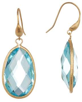 Rivka Friedman 18K Gold Clad Crystal Teardrop Dangle Earrings