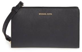 MICHAEL Michael Kors 'Large Jet Set Travel' Crossbody Bag - Black - BLACK - STYLE
