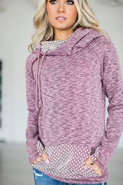 Ampersand Avenue DoubleHoodTM Sweatshirt - Sugar Plum