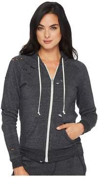 Alternative Super Distressed Adrian Hoodie Women's Sweatshirt