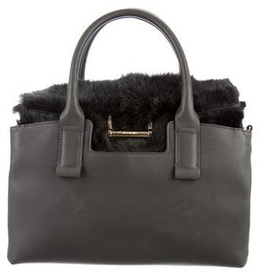 Jason Wu Fur-Accented Leather Satchel