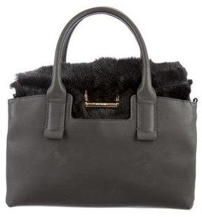 Jason Wu Fur-Accented Leather Satchel