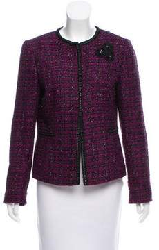 Tahari Embellished Tweed Jacket