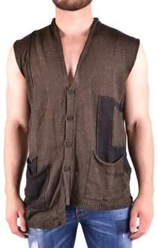 Isabel Benenato Men's Green Linen Vest.