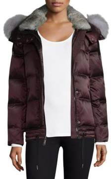 Andrew Marc Short Fur-Trim Down Jacket