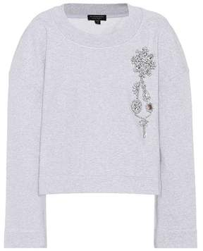Burberry Cropped cotton-jersey sweatshirt