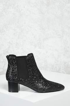 Forever 21 Glitter Chelsea Boots