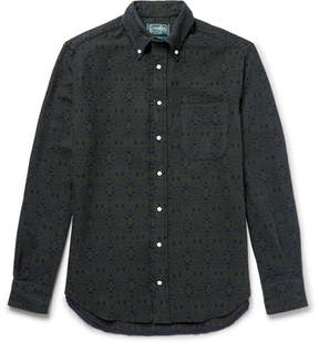 Gitman Brothers Button-Down Collar Printed Cotton-Flannel Shirt