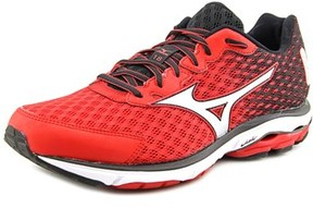 Mizuno Wave Rider 18 Round Toe Synthetic Running Shoe.