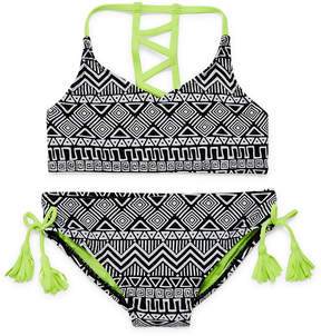 Arizona Girls Stripe Bikini Set - Big Kid Girls