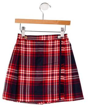 Papo d'Anjo Girls' Plaid Wrap Kilt