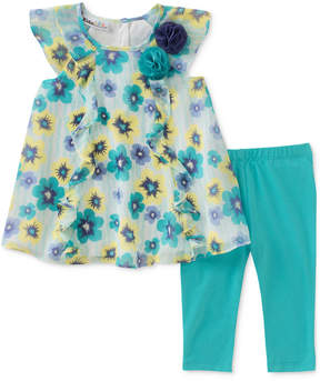 Kids Headquarters 2-Pc. Floral-Print Tunic & Leggings Set, Baby Girls