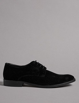 Marks and Spencer Lace-up Velvet Shoes