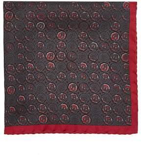 Prada Men's Medallion-Print Silk Twill Pocket Square
