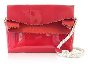 MM6 MAISON MARGIELA Women's Red Faux Leather Shoulder Bag.