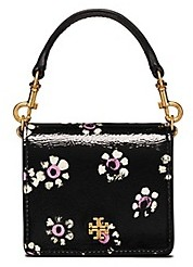 Tory Burch Cleo Printed Mini Cross-Body - BLACK STAMPED FLORAL - STYLE