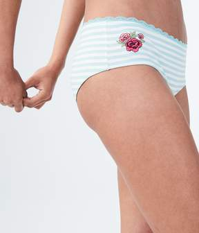 Aeropostale Embroidered Rose Cheeky