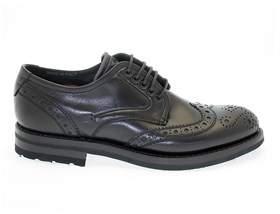 Fabi Men's Black Leather Lace-up Shoes.