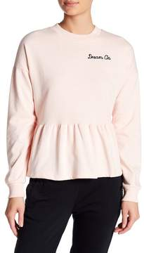 Planet Gold Dream On Peplum Sweatshirt