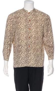 Pierre Balmain Paisley Print Button-Up Shirt