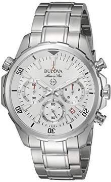 Bulova Marine Star White Dial Stainless Steel Men's Watch